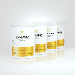COLLAGEN, VITAMIN C, HAYLURONIC ACID, ORGANIC BAMBOO SILICA